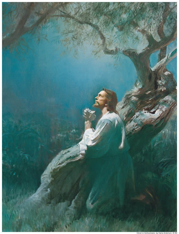 Atonement Jesus Praying Gethsemane Mormon